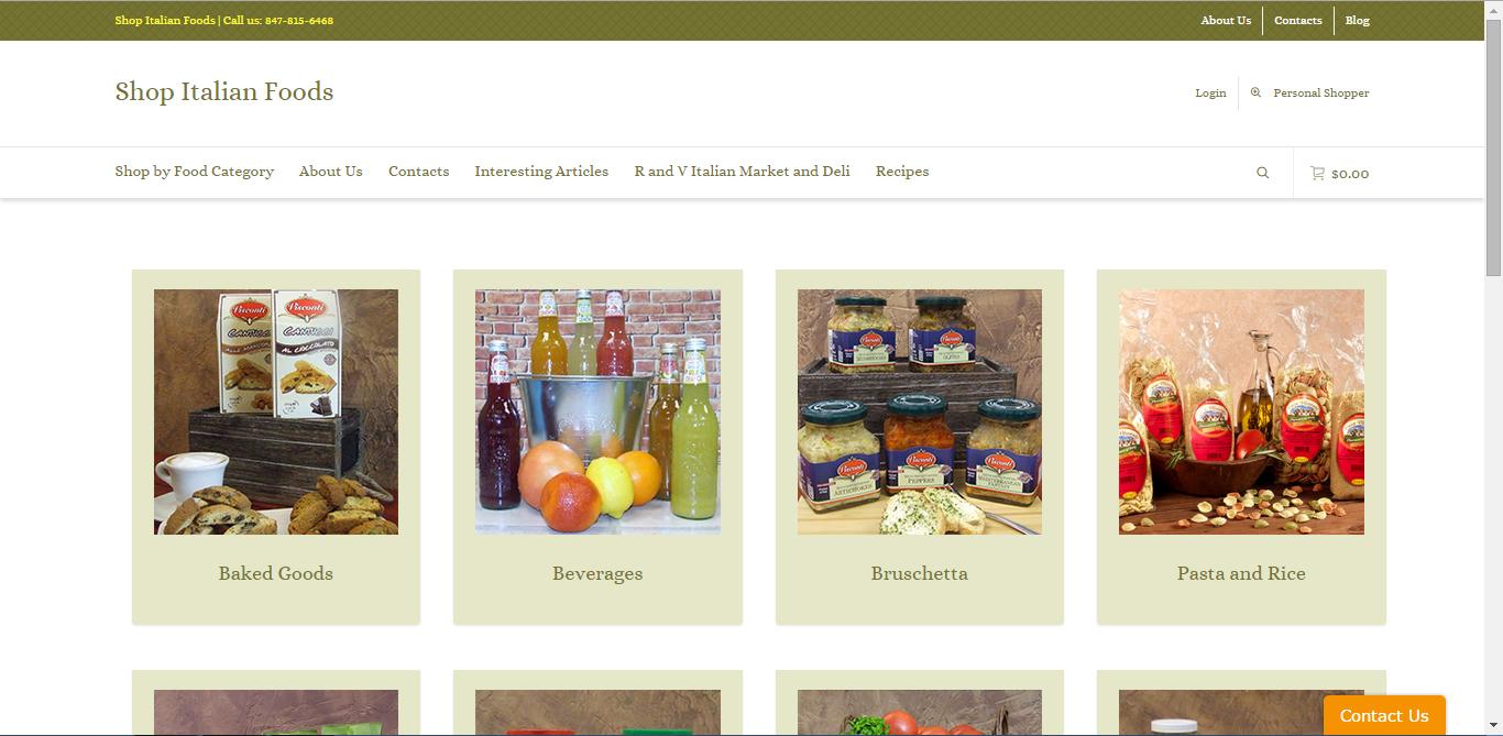 Shop Italian Foods Portfolio